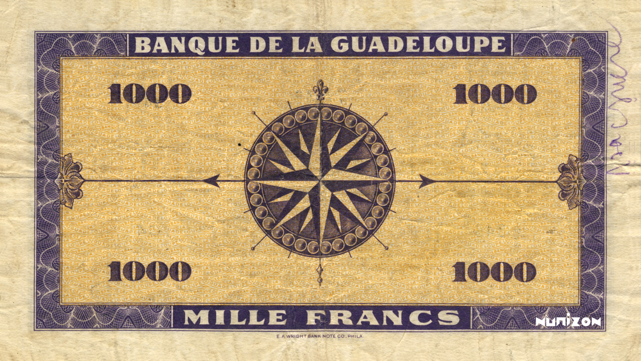 VERSO 1000 francs Type 1942 small (US)