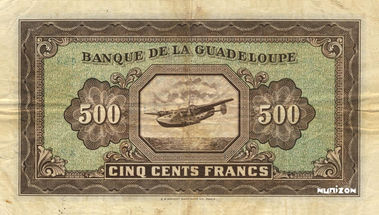 VERSO 500 francs Type 1942 small (US)