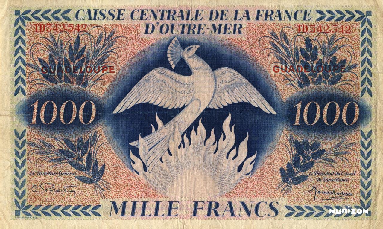 RECTO 1000 francs Type 1943  (UK)
