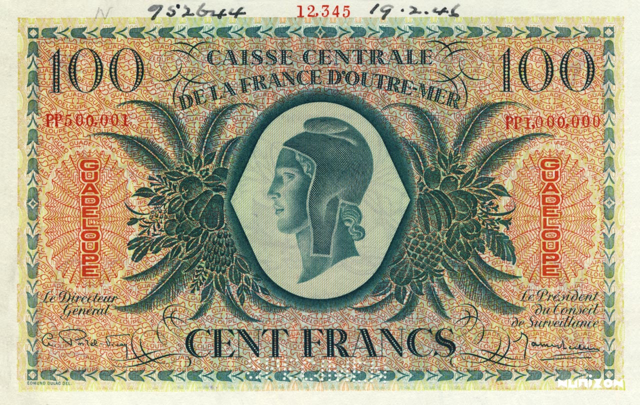 RECTO 100 francs Type 1943  (UK)