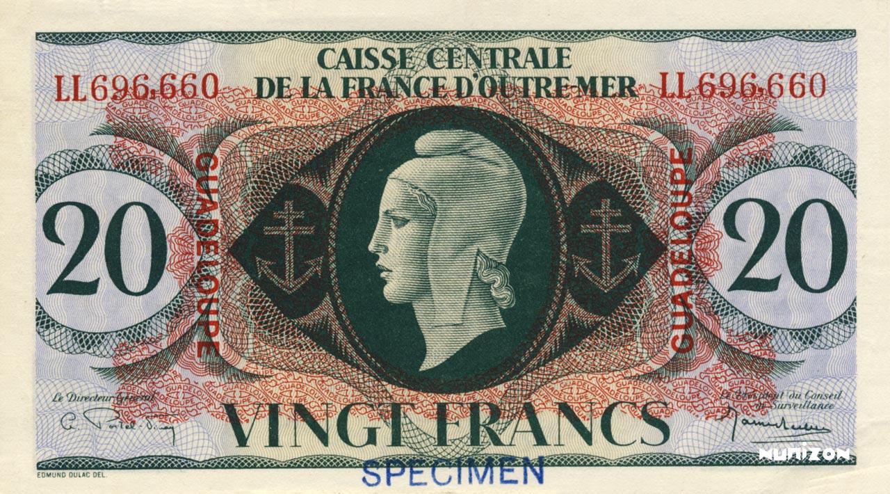 RECTO 20 francs Type 1943  (UK)