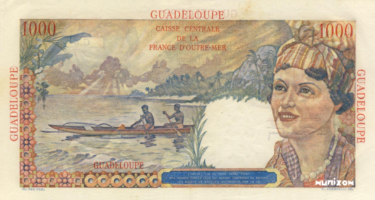 VERSO 1000 francs Union française Type 1946