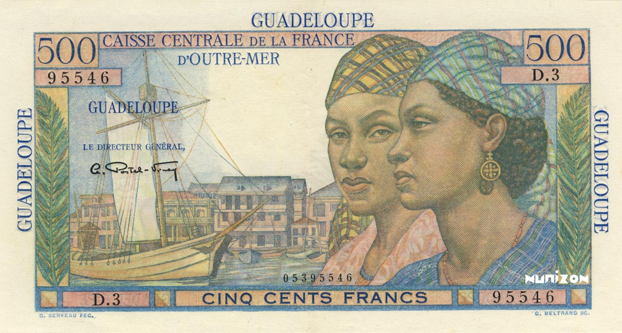 RECTO 500 francs Pointe à Pitre Type 1946