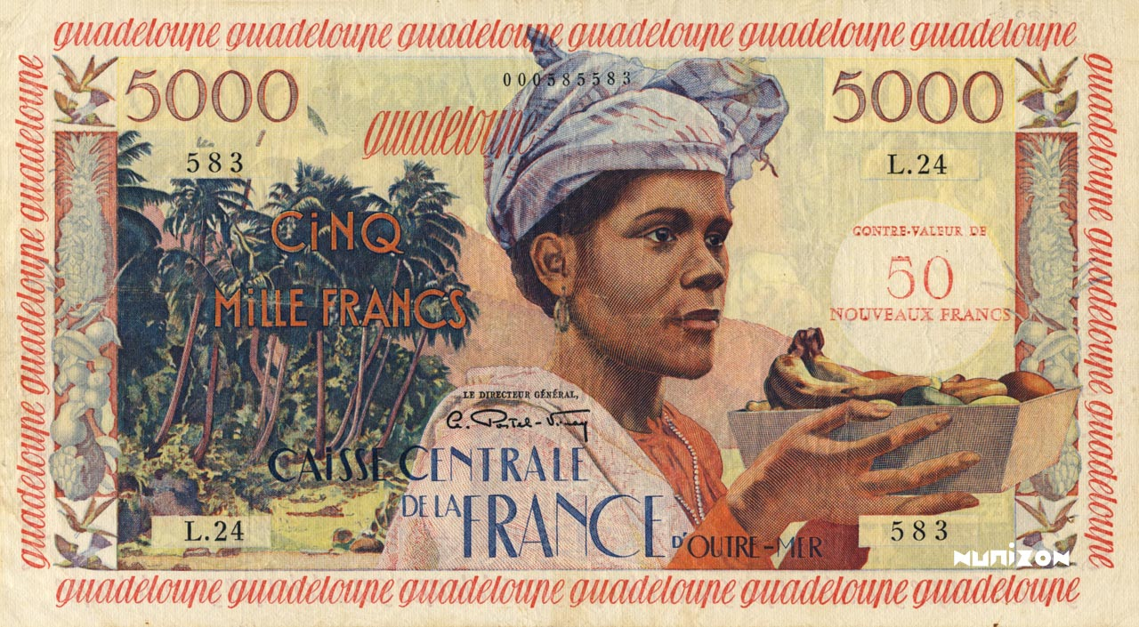 RECTO 50 NF/5000 francs Antillean Type 1960