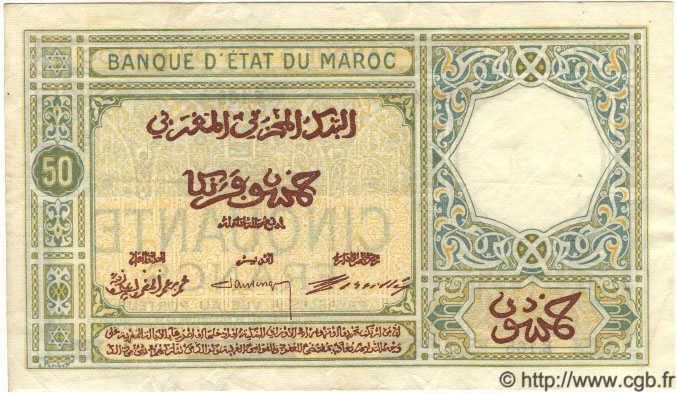 VERSO 50 francs Type 1920-1928