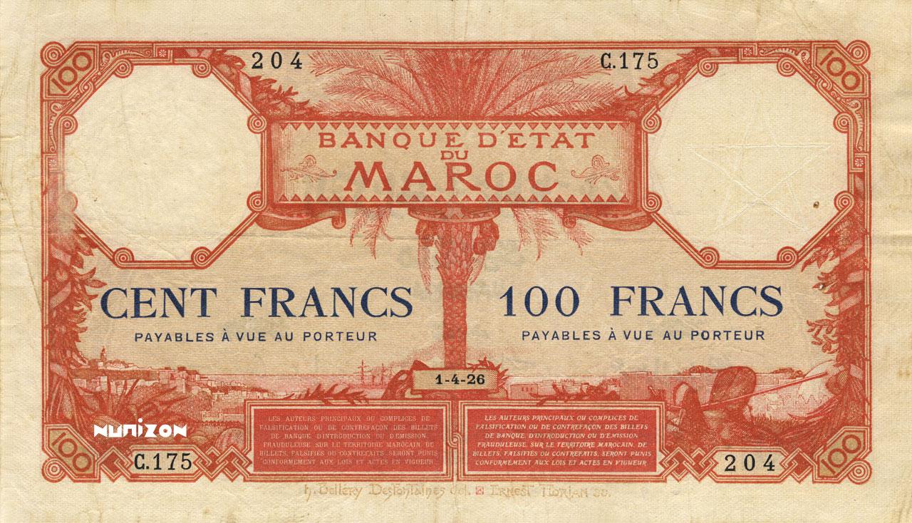 RECTO 100 francs Type 1920