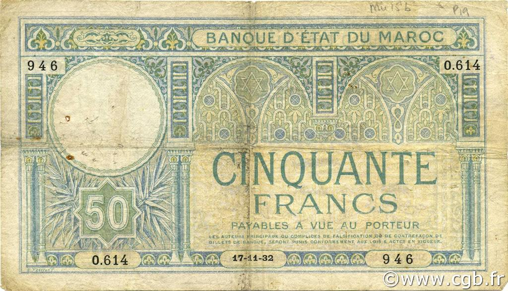 RECTO 50 francs Type 1920 modified