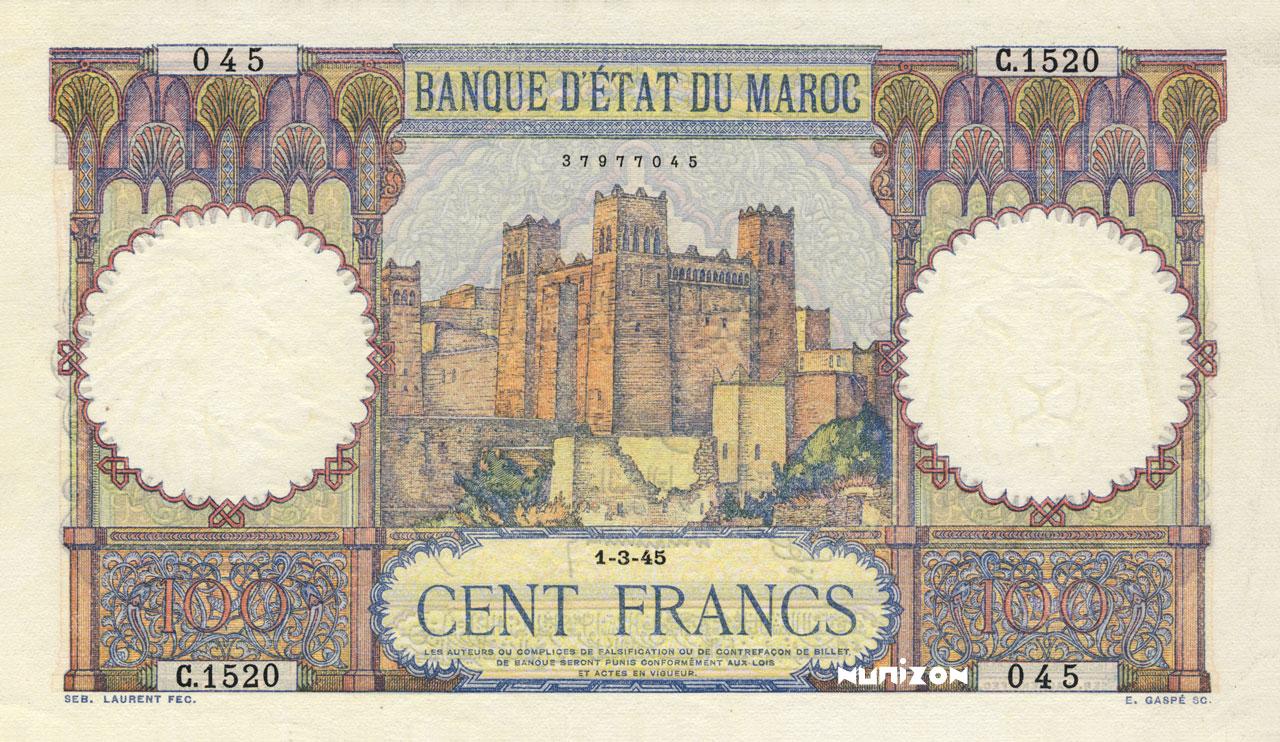 RECTO 100 francs Type 1928