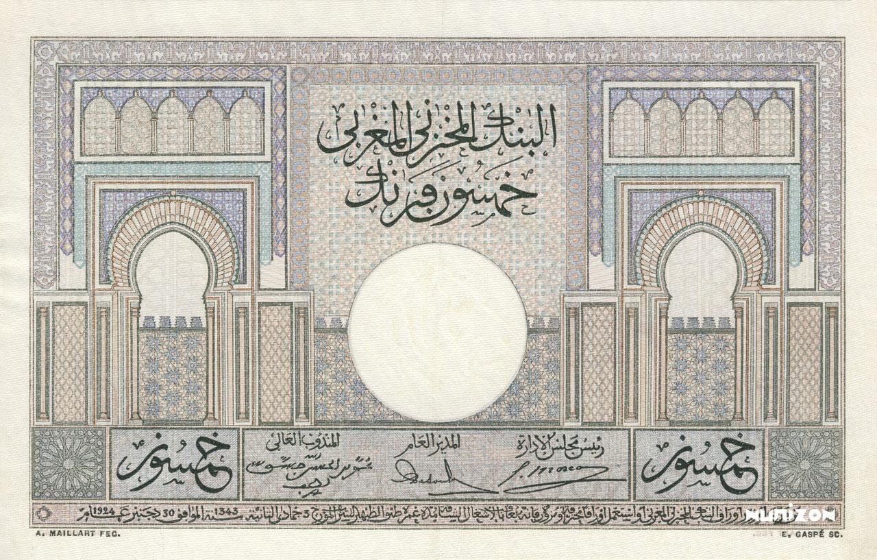 VERSO 50 francs Type 1935
