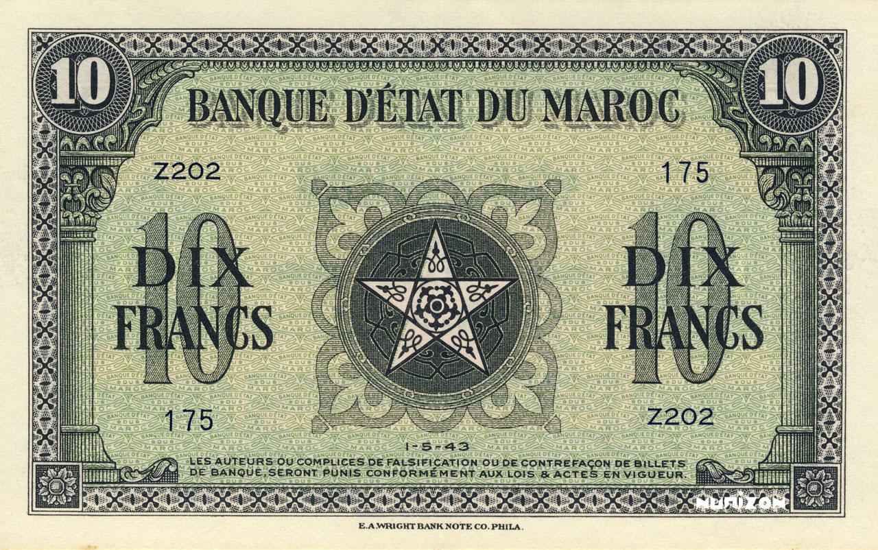RECTO 10 francs Type 1943   (US)