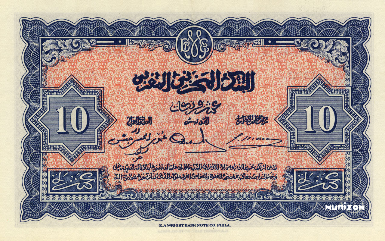 VERSO 10 francs Type 1943   (US)
