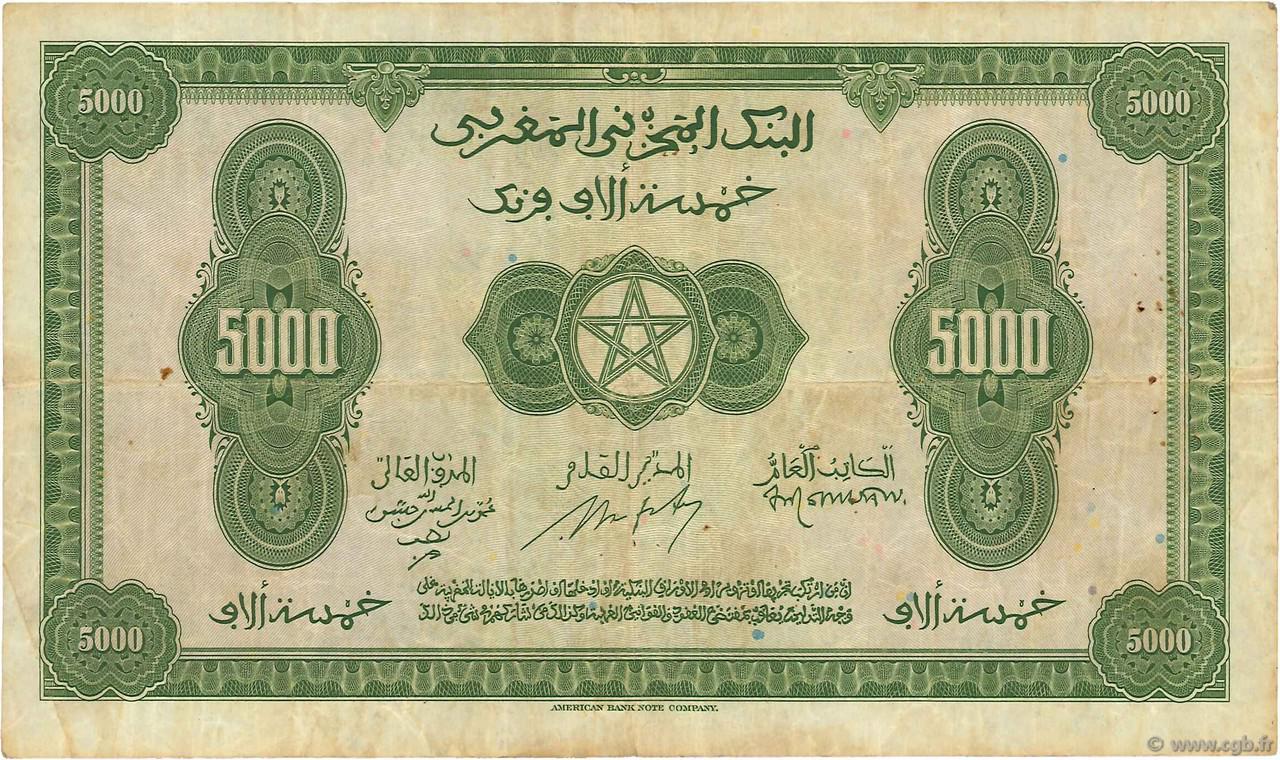 VERSO 5000 francs Type 1943  (US)