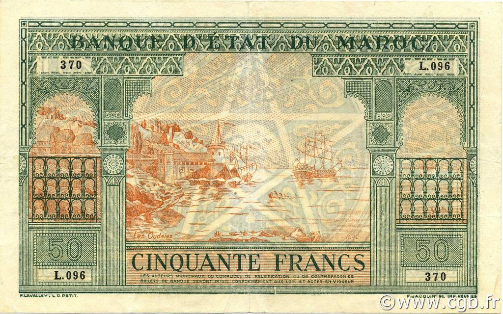 RECTO 50 francs Type 1943 Casablanca