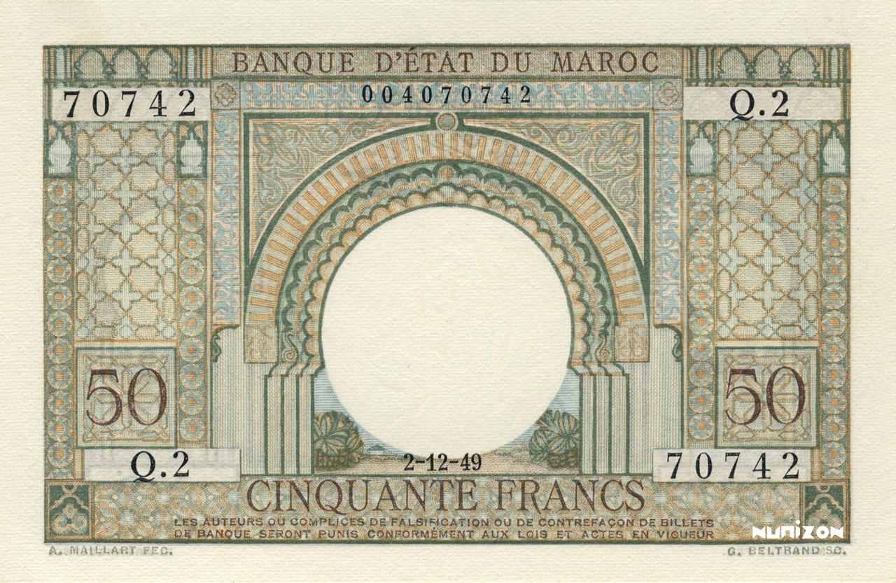 RECTO 50 francs Type 1949
