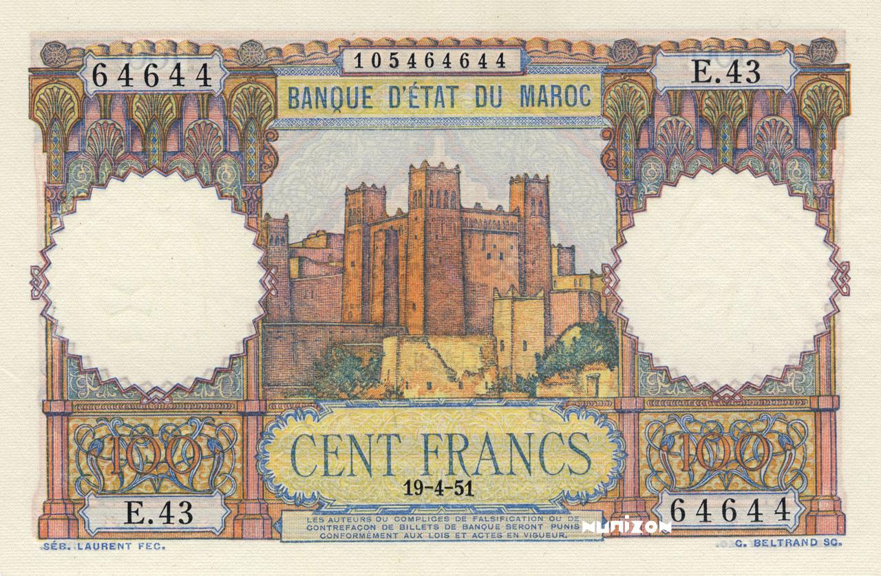 RECTO 100 francs Type 1948
