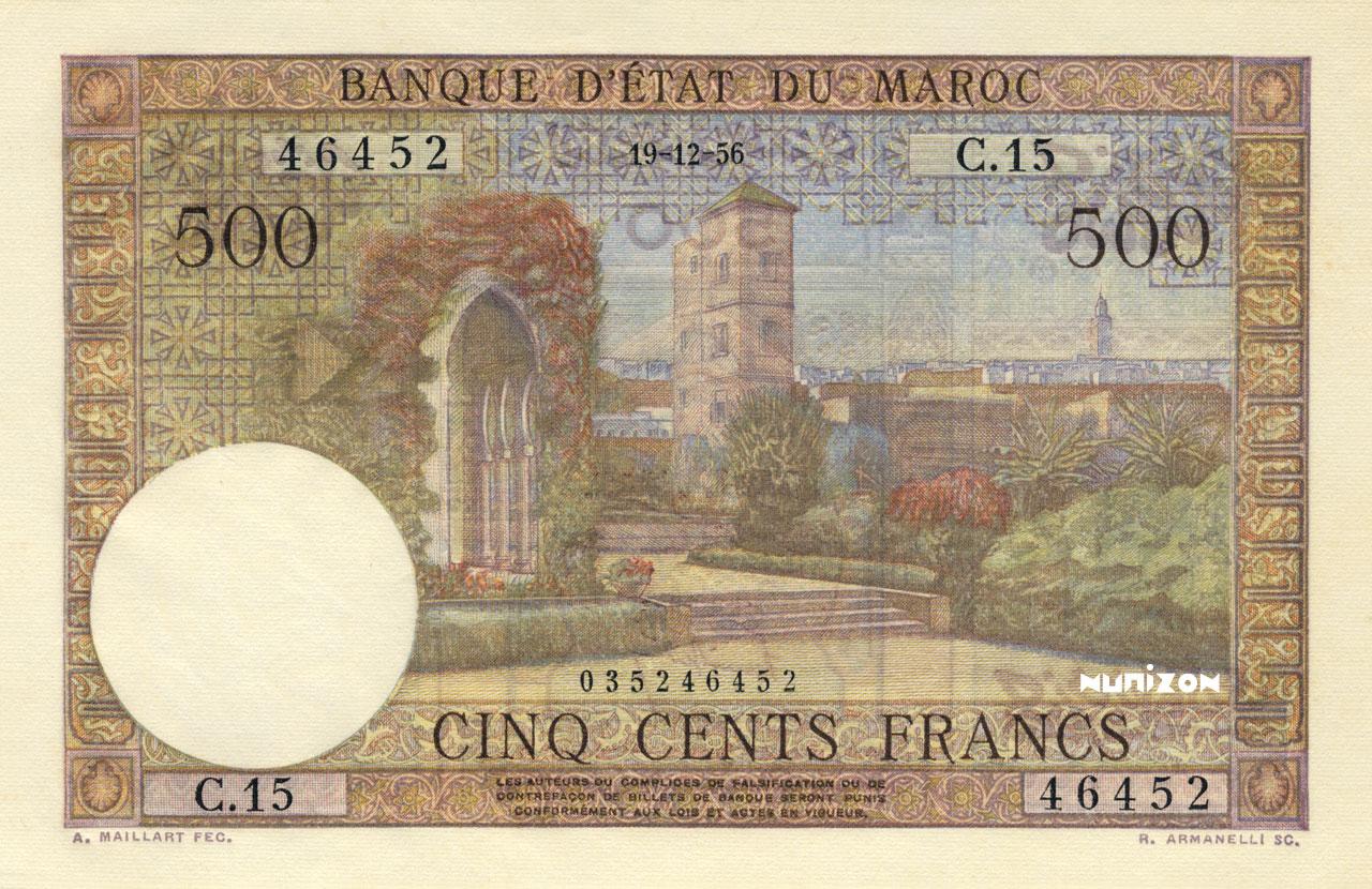 RECTO 500 francs Type 1949