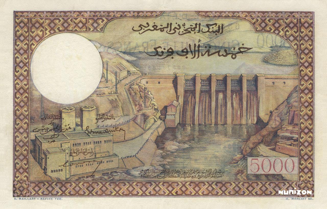 VERSO 5000 francs Type 1951