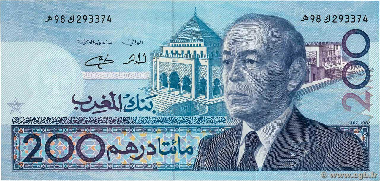 RECTO 200 Dirhams Type 1987 (1991)