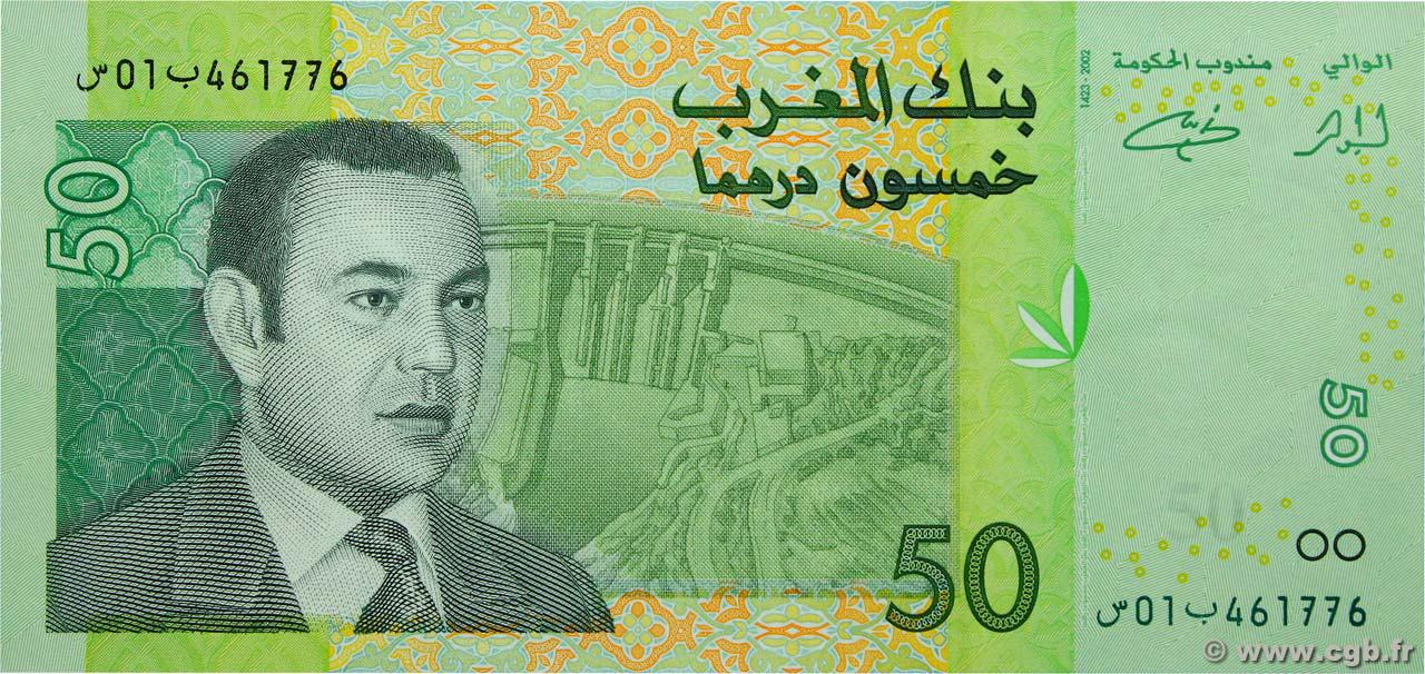 RECTO 50 Dirhams Type 2002