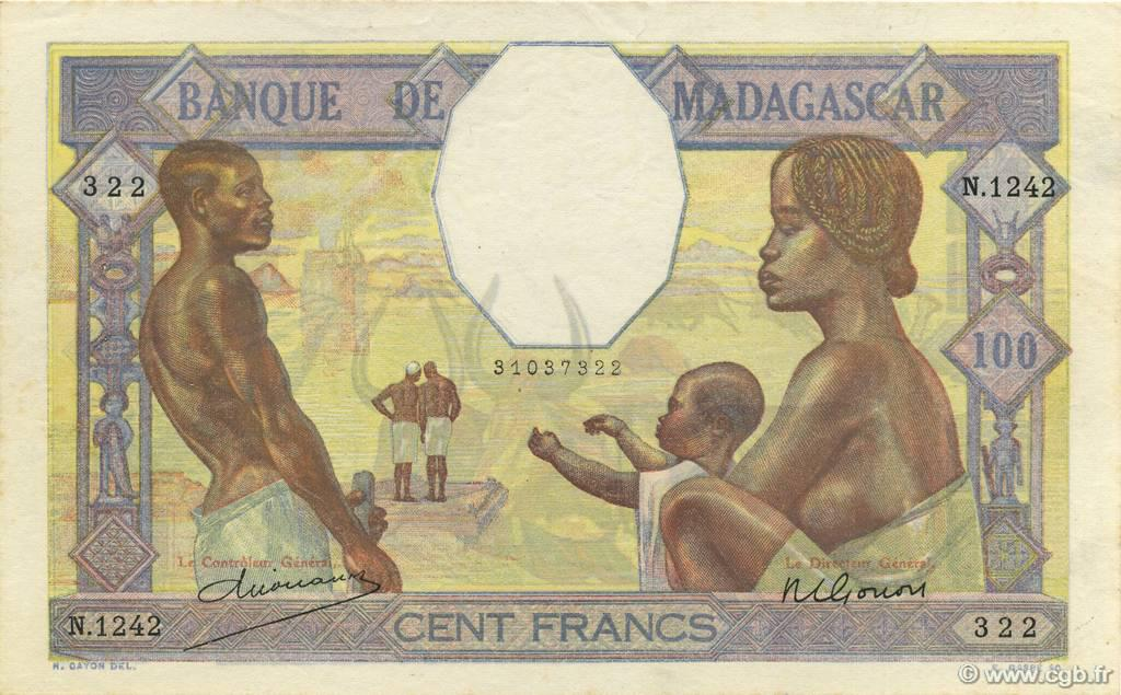 RECTO 100 francs Type 1928 Madagascar