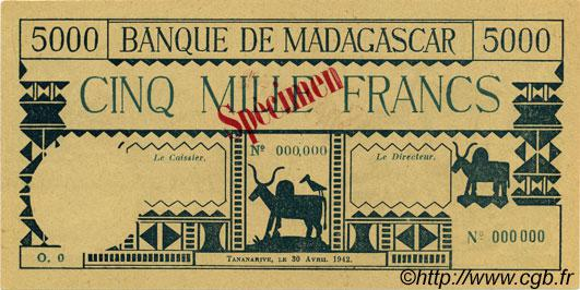 RECTO 5000 francs Type 1942 Madagascar