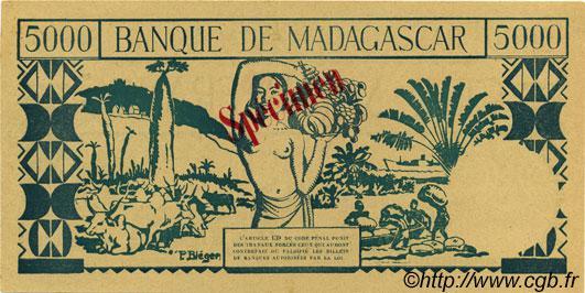 VERSO 5000 francs Type 1942 Madagascar