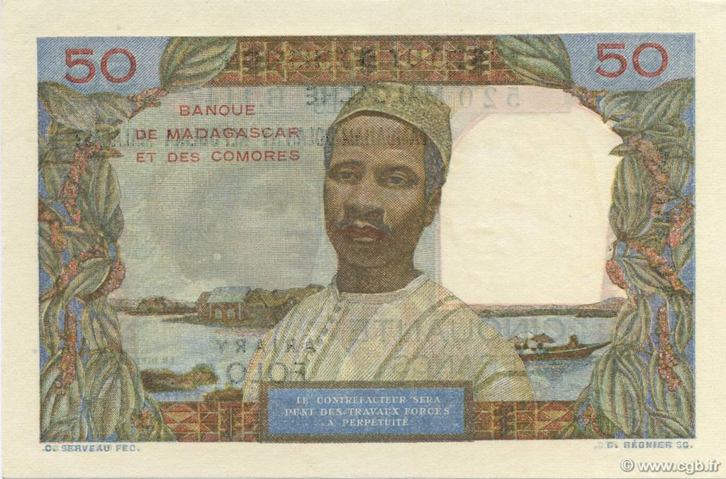 VERSO 50 francs - 10 Ariary Type 1961