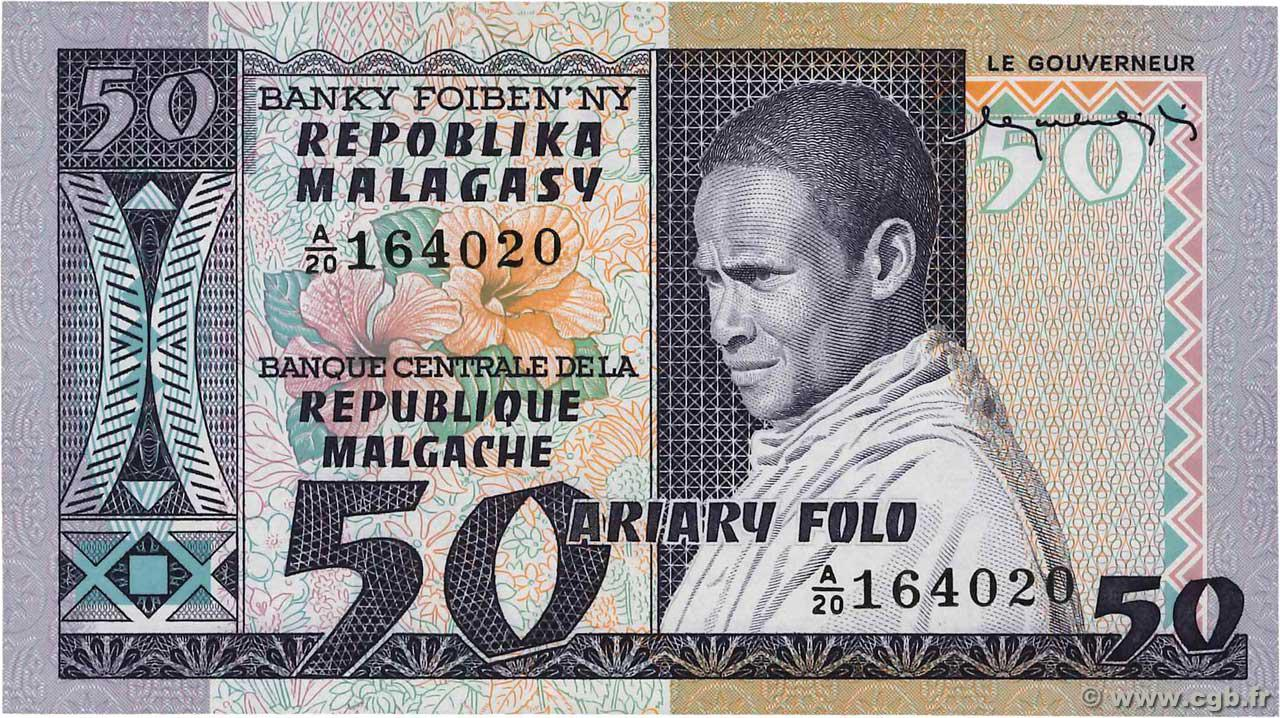 RECTO 50 francs - 10 Ariary Type 1974 Madagascar