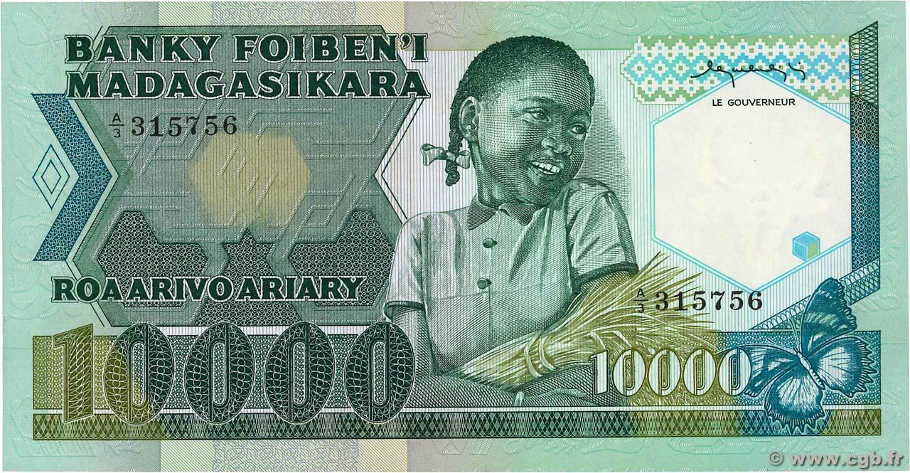RECTO 10000 francs - 2000 Ariary Type 1983 Madagascar