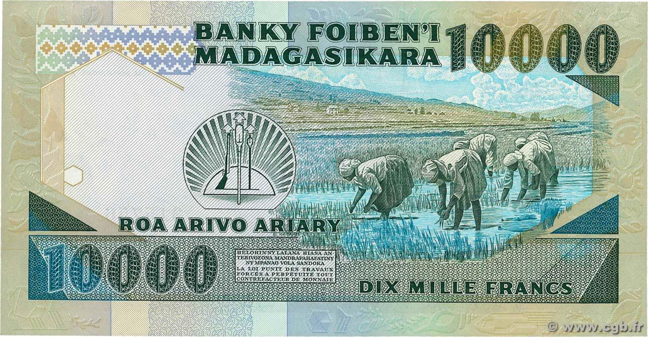 VERSO 10000 francs - 2000 Ariary Type 1983 Madagascar