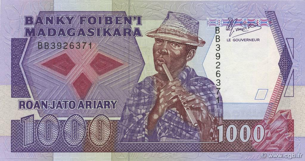 RECTO 1000 francs - 200 Ariary Type 1988 Madagascar
