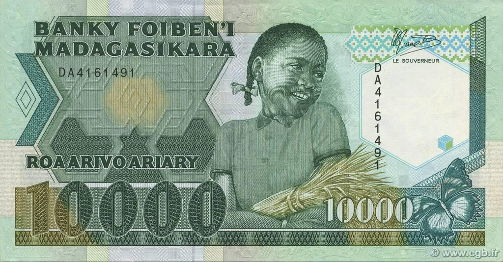 RECTO 10000 francs - 2000 Ariary Type 1988 Madagascar