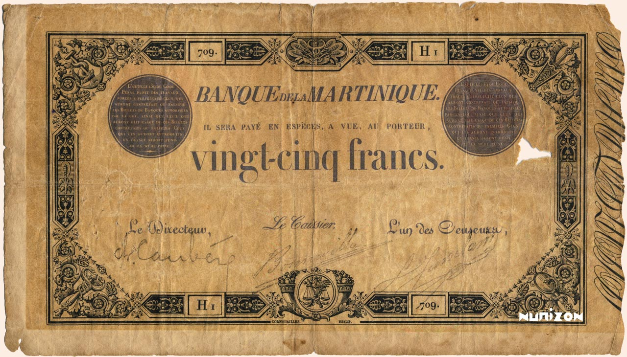 RECTO 25 francs Black and Blue Type 1852