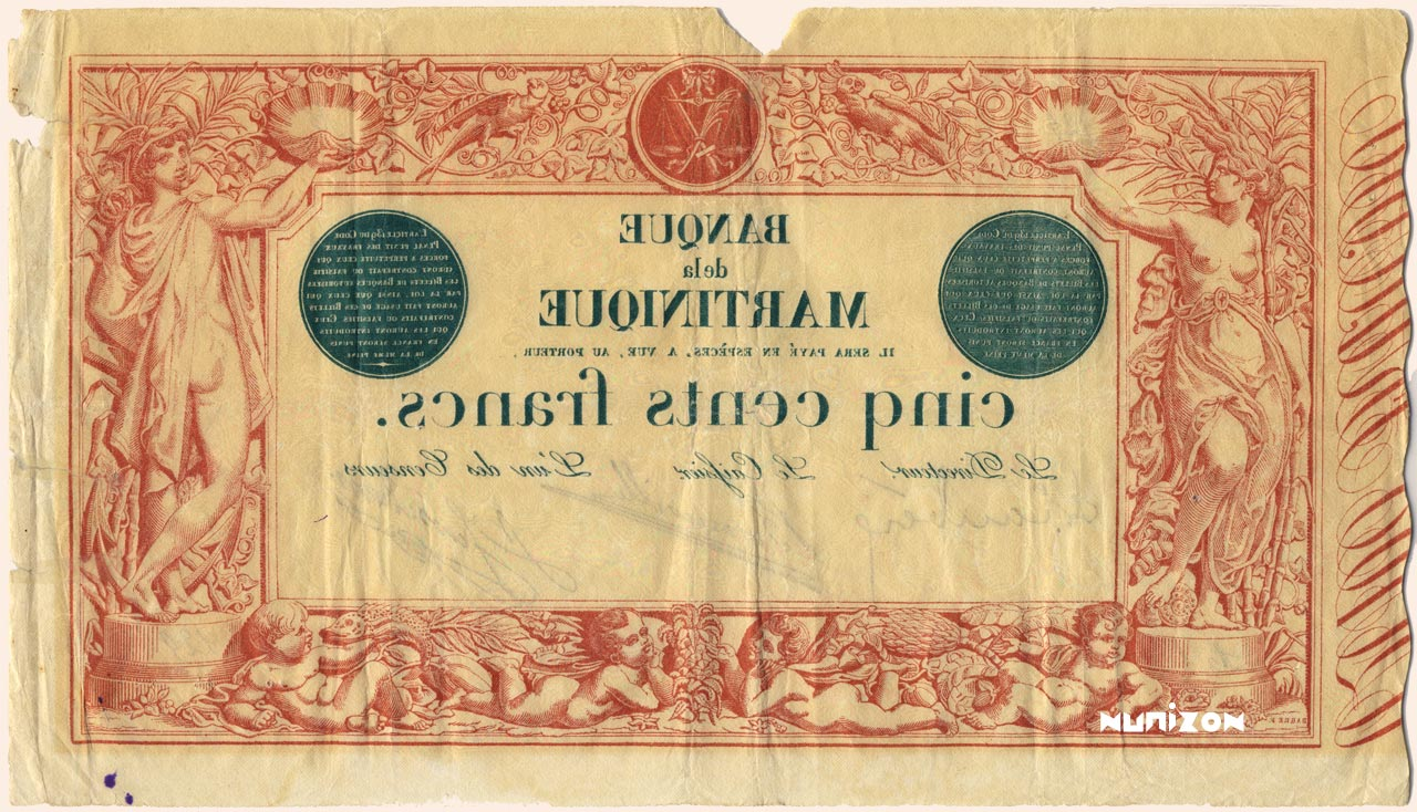 VERSO 500 francs Red and Black Type 1852