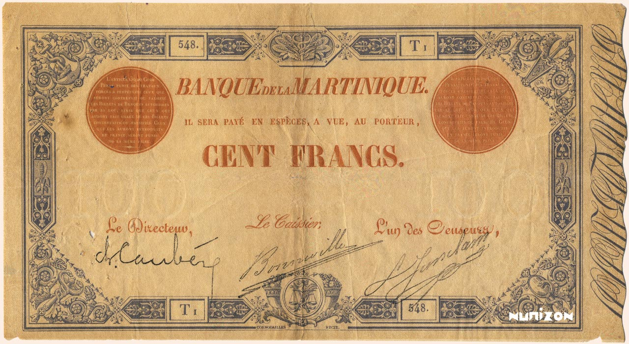 RECTO 100 francs Blue and Red Type 1874