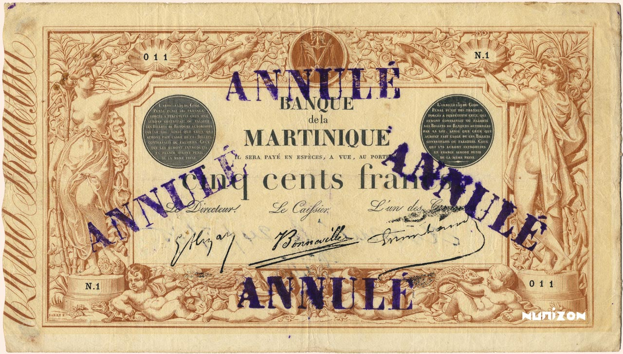 RECTO 500 francs Brown and Gray Type 1874