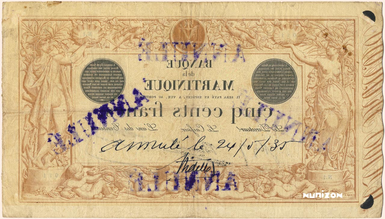 VERSO 500 francs Brown and Gray Type 1874