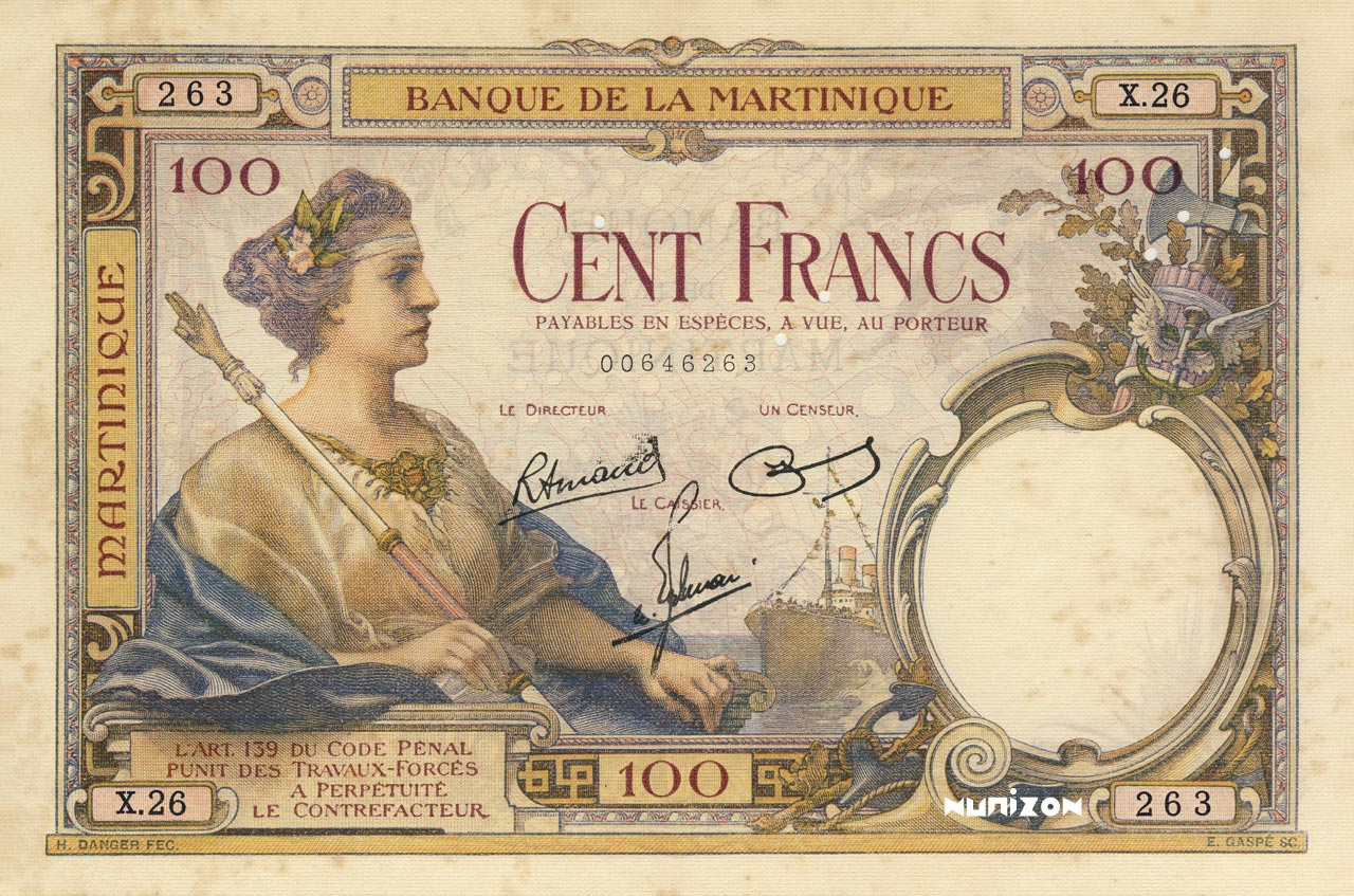 RECTO 100 francs Type 1927