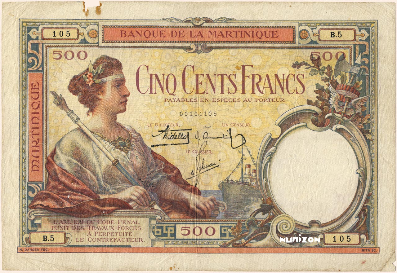 RECTO 500 francs Type 1927
