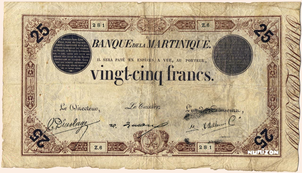 RECTO 25 francs Brown Type 1874