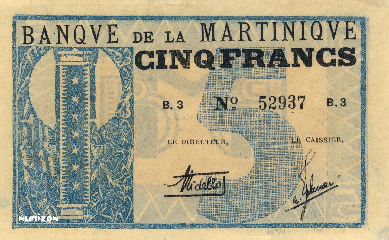 RECTO 5 francs Type 1941