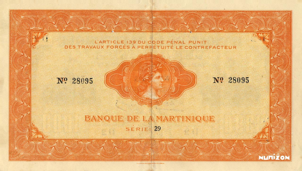 VERSO 1000 francs Type 1942  (US)