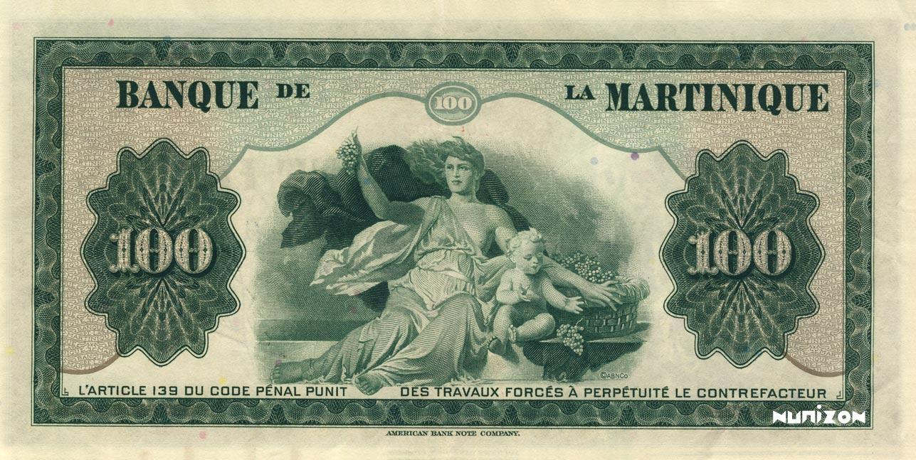 VERSO 100 francs Type 1942  (US)