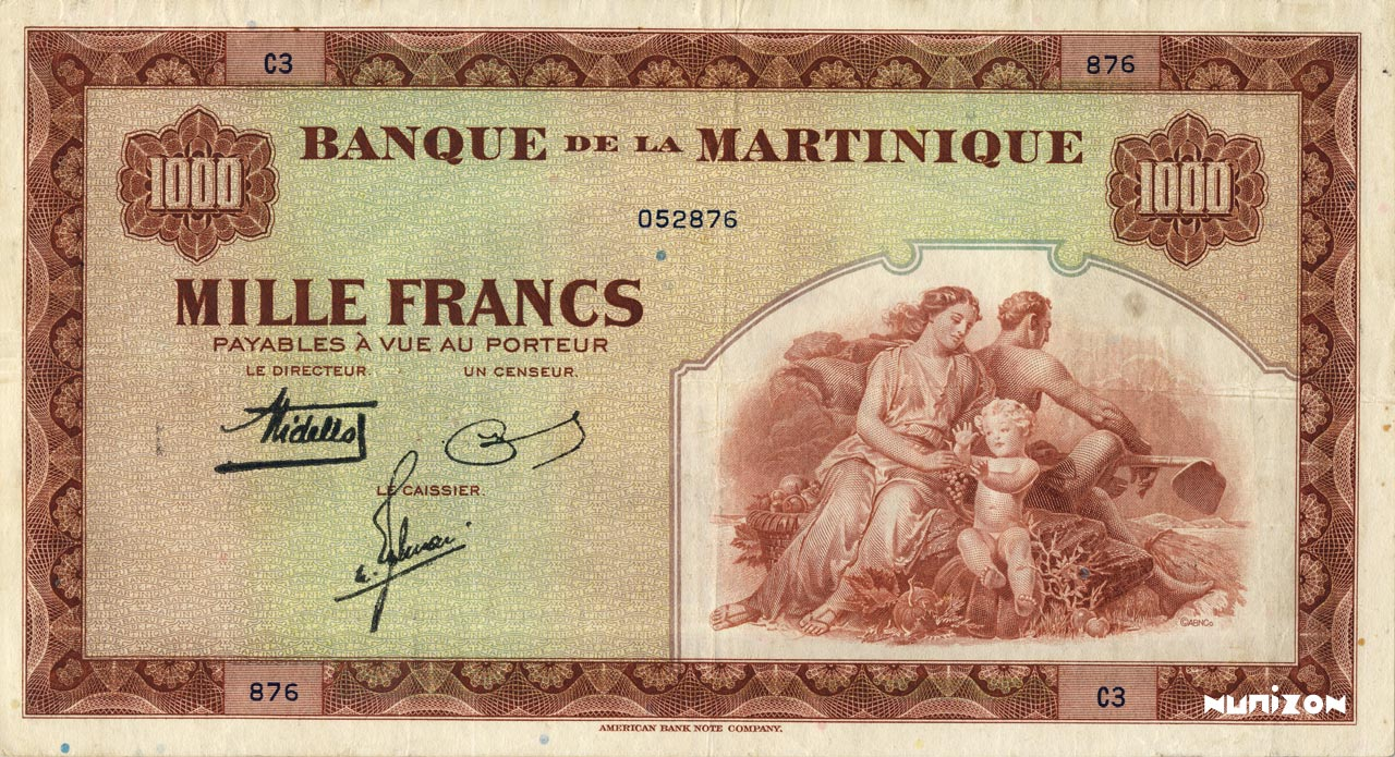 RECTO 1000 francs Type 1943  (US)