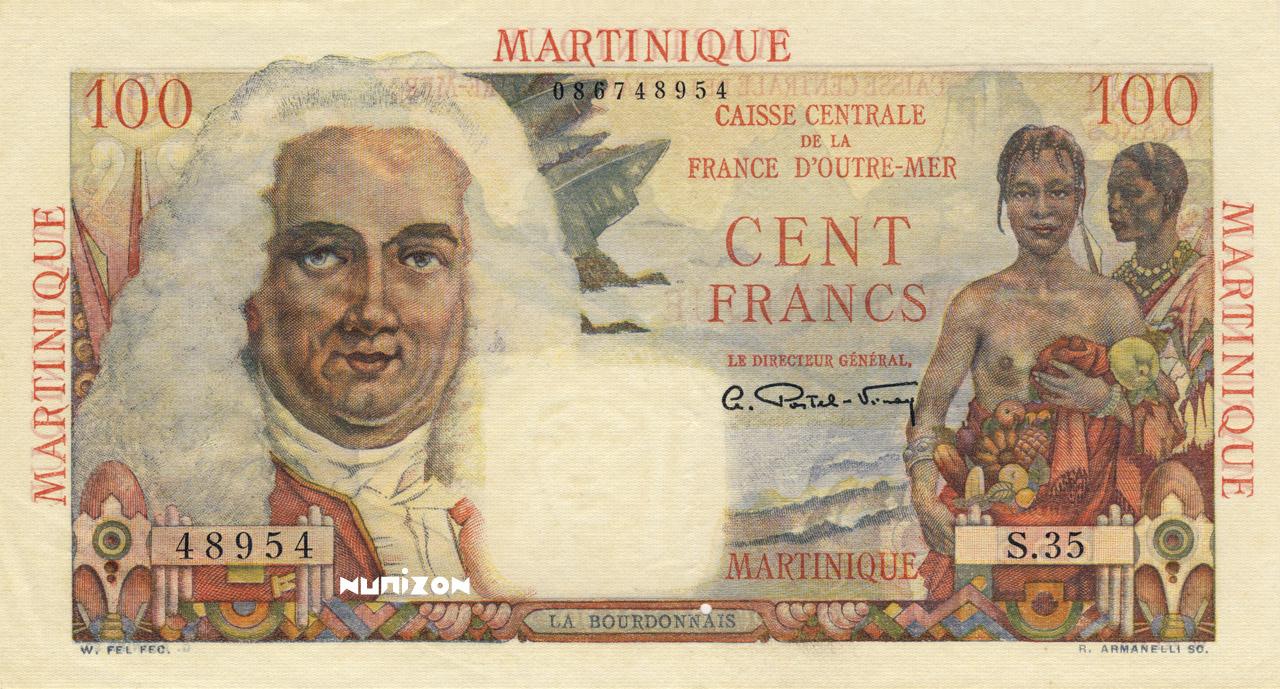 RECTO 100 francs La Bourdonnais Type 1946