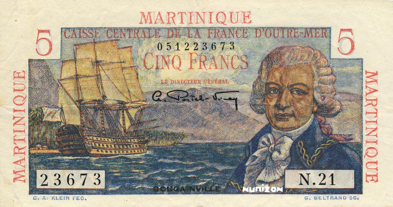 5 francs - Type 1946 - Bougainville Pick##27