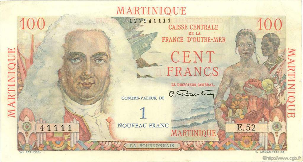 RECTO 1 NF/100 francs La Bourdonnais Type 1946