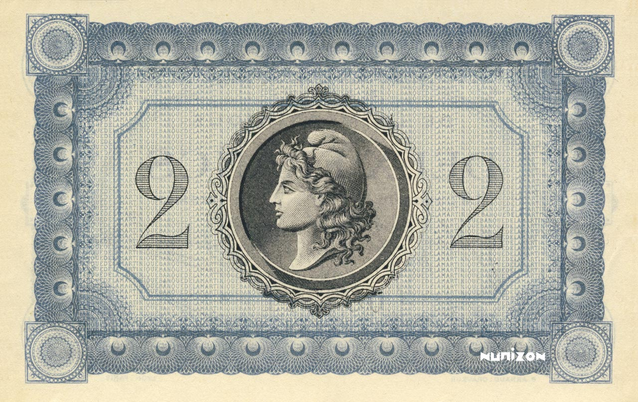 VERSO 2 francs Type 1915