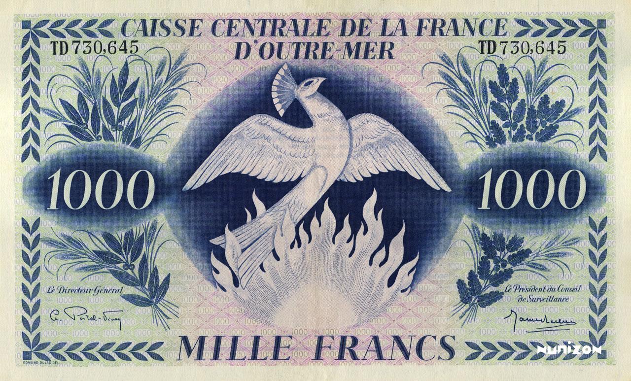 RECTO 1000 francs Type 1944 modified  (UK)