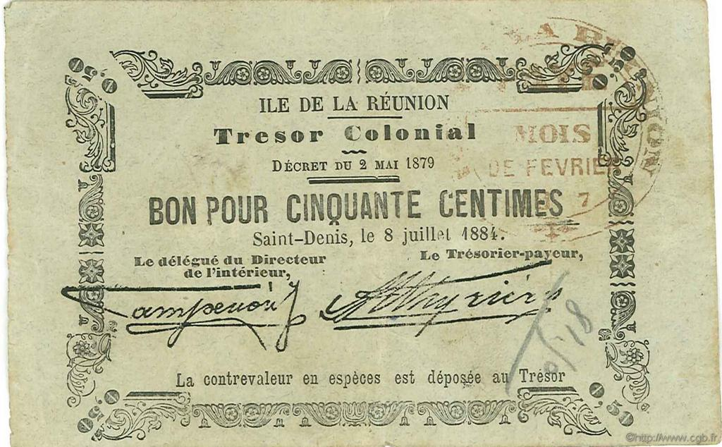 RECTO 50 centimes 1884 Type 2